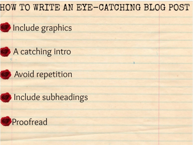 dbb how to write an eye catching blog post